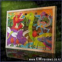 24 Piece Prehistoric Sunset Jigsaw
