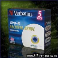 UltraLife DVD-R 4.7GB 5Pk Gold Archival - Inkjet Printable