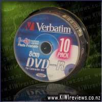 DVD-R 1.4GB 10Pk 8cm White Inkjet 4x