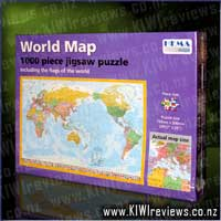 World Map 1000-piece Jigsaw Puzzle