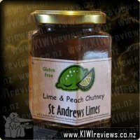 Lime and Peach Chutney