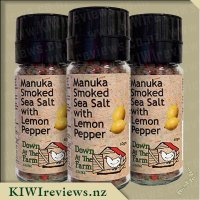 Manuka Smoked Salt with Lemon Pepper